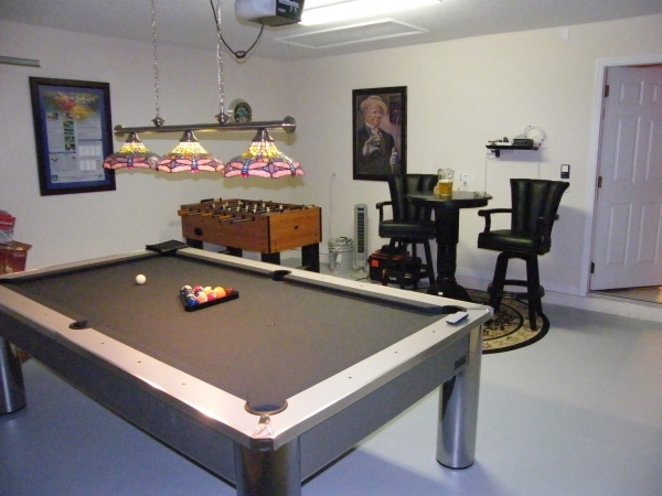 Gameroom med pool bord, Air Hockey, bordfodbold og dart